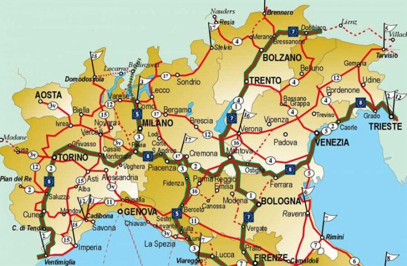 La situazione della rete cicloturistica italiana (1° parte – Nord Italia)