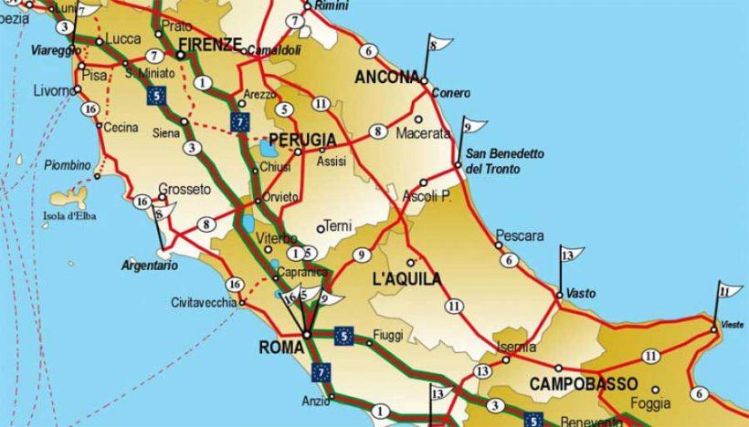 La situazione della rete cicloturistica italiana (2° parte – Centro Italia)