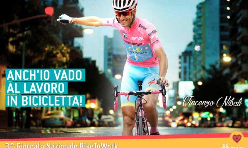Vincenzo Nibali aderisce alla Giornata del BikeToWork di FIAB