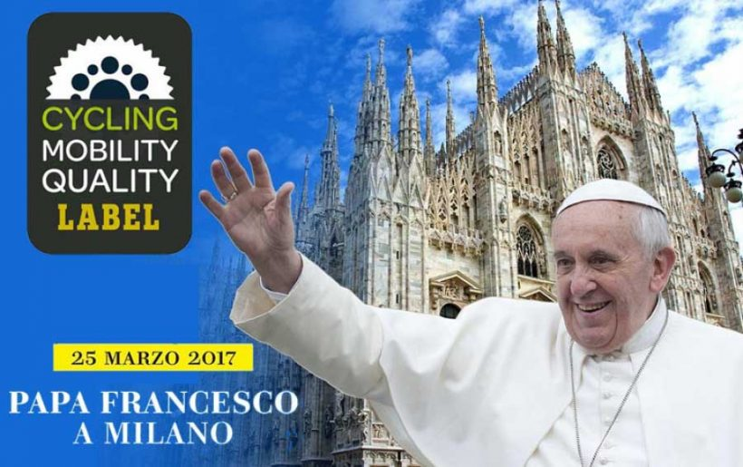 "All'evento ""Papa Francesco a Milano"" il Cycling Mobility Quality Gold Label"