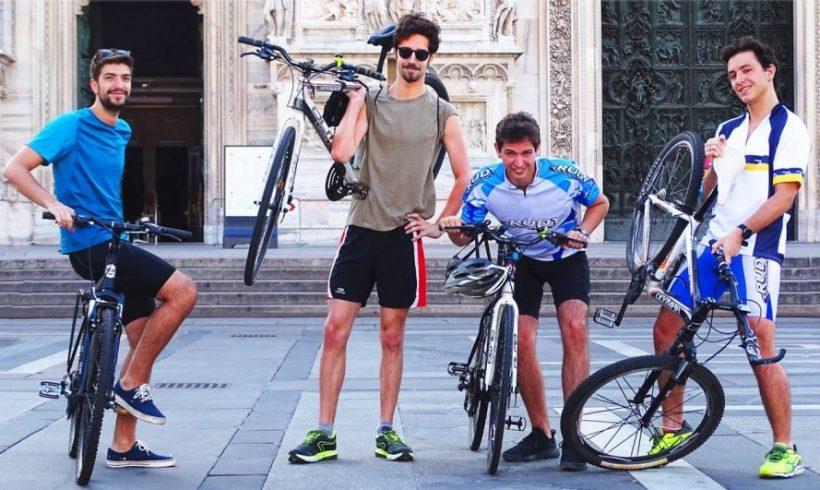 4 amici da Milano a Norcia: Adesso pedala!