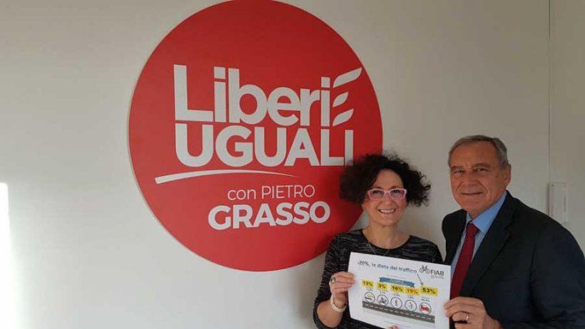 """Fiab incontra Grasso. Proposta la """"dieta del traffico"""" anche al leader di LeU"""