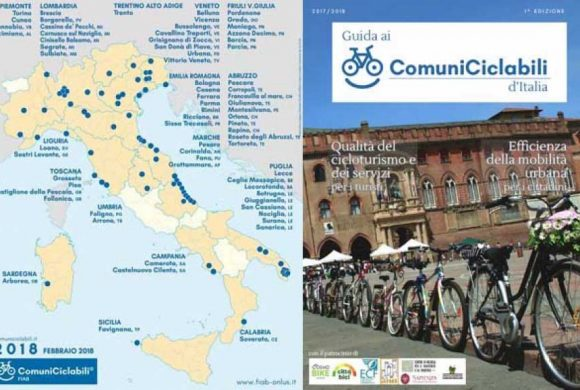 Comuni Ciclabili 2018: chiusa a Bologna la prima edizione con 39 bandiere gialle consegnate