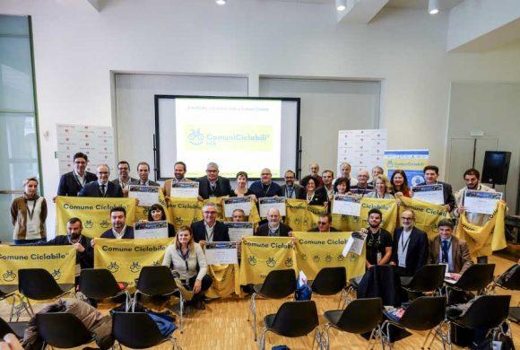 Comuni Ciclabili: salgono a 82 le bandierine gialle della ciclabilità italiana