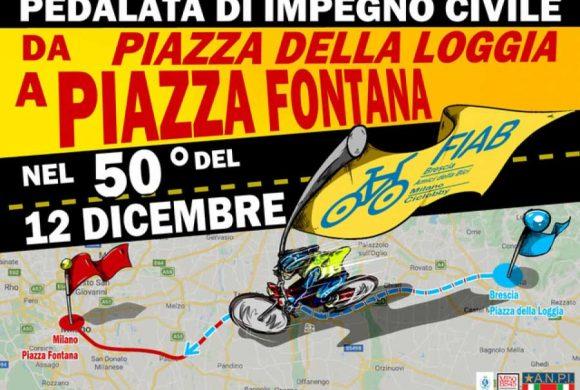 Piazza Fontana: FIAB pedala da Brescia a Milano 50 anni dopo la strage