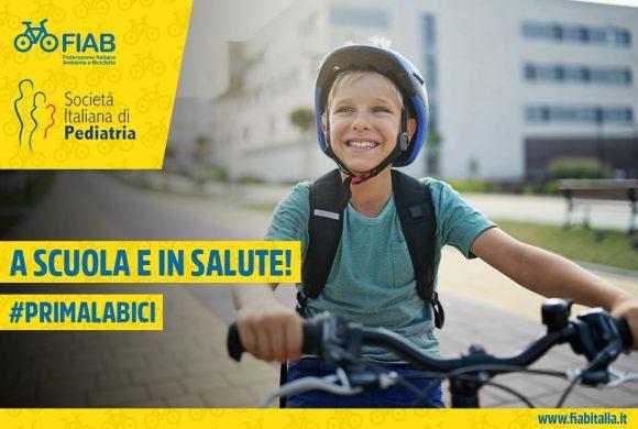 A scuola e in salute! #PRIMALABICI. FIAB e Società Italiana di Pediatria lanciano la campagna