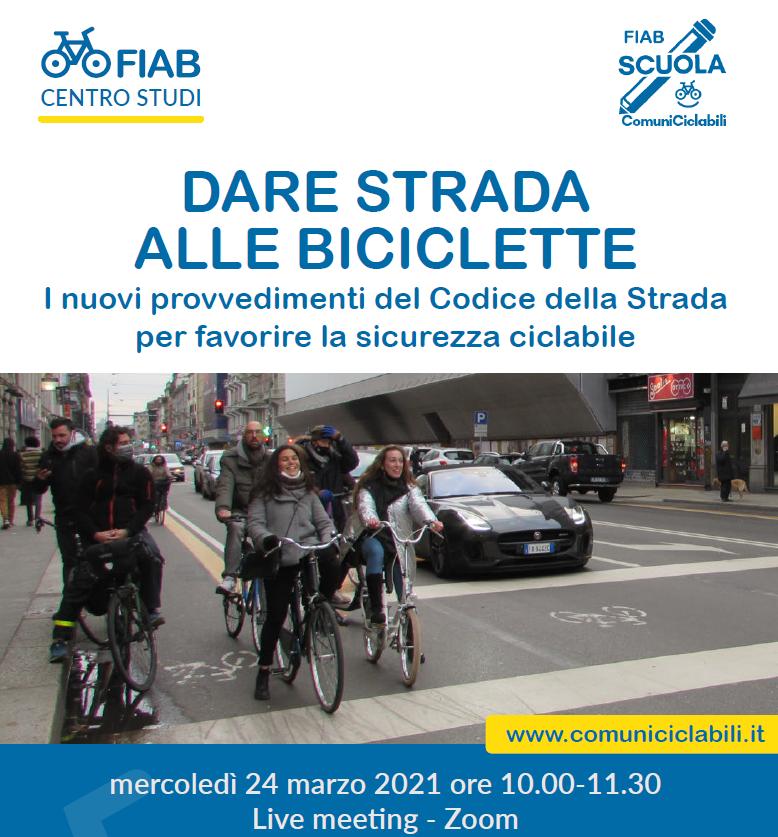 """Scuola di ComuniCiclabili """"Dare strada alle biciclette. I nuovi provvedimenti del Codice della Strada per favorire la sicurezza ciclabile"""""""