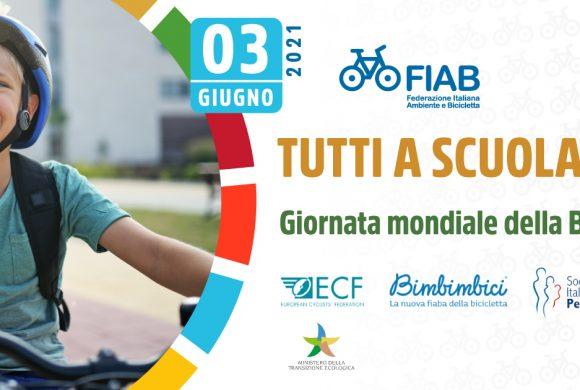 Giornata mondiale della bicicletta: FIAB dedica il 3 giugno al bike to school. Ecco tutte le iniziative